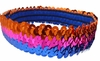 Sequin Headbands Orange and Pink and Blue