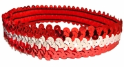 Sequin Headbands Red and Silver