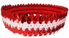 Sequin Headbands Red and White
