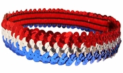 Sequin Headbands Red Silver and Blue
