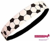 Soccer Leather Headband White/Black