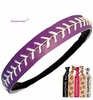 Softball Headband Purple/White With Ties
