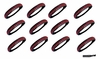 Softball Headbands 12 Pack Black/Red