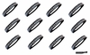 Softball Headbands 12 Pack Black/White