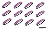 Softball Headbands 12 Pack Purple/White