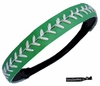 Softball Headband Green/White