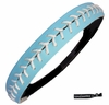 Softball Headband Light Blue/White