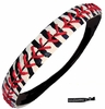 Softball Headband Zebra Black and White/Red