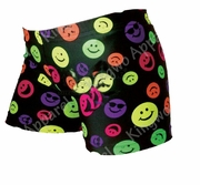Women's Spandex Shorts - Smiley Faces