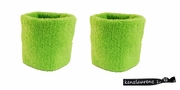 Wristbands 2 Pack Neon Green