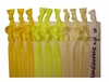 Yellow Ombre 20 Pack Hair Ties