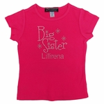 Big Sister Rhinestone T-shirt   Includes Personalization