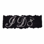 Black Lace I Do Rhinestone Garter