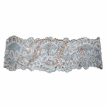 Blue I Do Rhinestone Bridal Garter