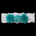 Custom Bridal Garter with Lace and Satin Roses