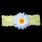 Custom Lace Bridal Garter with Daisy Flower