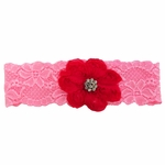 Custom Lace Bridal Garter with Lace Rose and Crystal Button