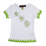 Custom Rhinestone Sea Turtles Shirt