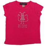 Girls' Personalized Jump-Rope  Rhinestone T-Shirt