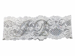 I Do Lace Garter with AB Iridescent Rhinestones