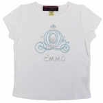 Rhinestone Cinderella Carriage T-shirt   Personalization Included