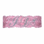 Rhinestone I Do Lace Garter in Pink