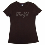 """Thankful"" Clear Rhinestone Children's T-shirt"