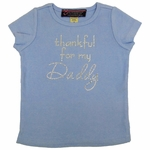 """Thankful for My Daddy"" Custom Rhinestone Tee"