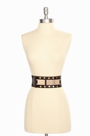 All on Your Plate Studded Black Stretch Belt