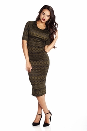 Aztec Radar Olive Midi Dress