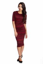 Aztec Radar Wine Midi Dress