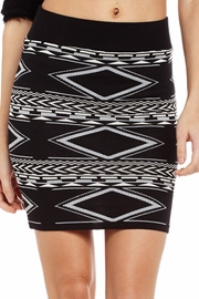 Blurred Lines Aztec Sweater Skirt