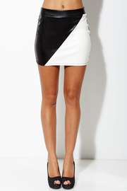 Day and Night Colorblock Faux Leather Skirt