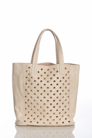Day in the City Spiked Taupe Tote