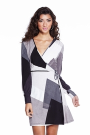 Failing Geometry Gray Wrap Dress