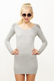 Fashion Show-lder Light Gray Sweater Dress