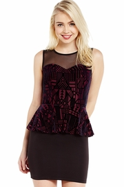 Flocked and Bothered Peplum Dress