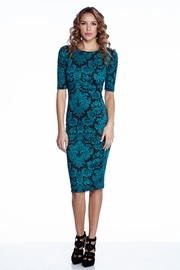 Flowers of the Night Green Midi Dress