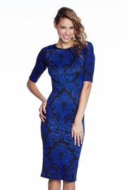 Flowers of the Night Royal Midi Dress