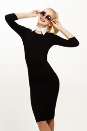 From Class to Club Black Midi Sweater Dress