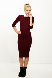 From Class to Club Wine Midi Sweater Dress