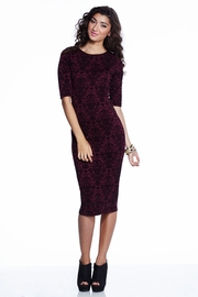 From Regal to Riches Flocked Midi Dress