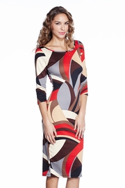 Geometric Euphoria Patterned Midi Dress