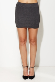 Get with it Charcoal Knit Mini Skirt
