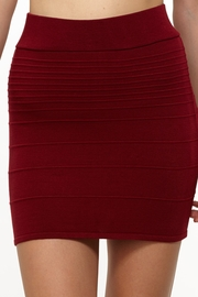 Get With It Wine Knit Mini Skirt