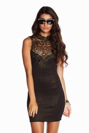 Glamour Shot Shimmery Dress in Black
