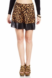 Going Over Bordered Leopard Skater Skirt