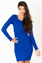 Great Escape Royal Ribbed Sweater Dress
