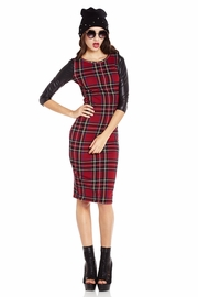Happy or Plaid Midi Dress