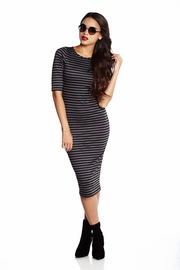 Haute Headliner Striped Midi Dress